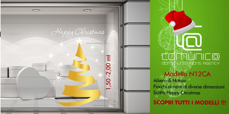 Esempio di wrapping per vetrine natalizie by Comunic@ agenzia di comunicazione Cagliari Sardegna
