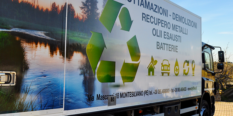 Esempi di car wrapping su automezzi commerciali by Comunic@ agenzia comunicazione Cagliari - Sardegna